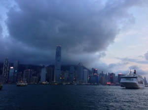 Dark clouds over Hong Kong